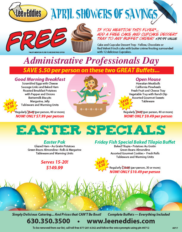 Easter Dinner Specials  Event Planning Blog Catering for Chicago Lee n Ed s