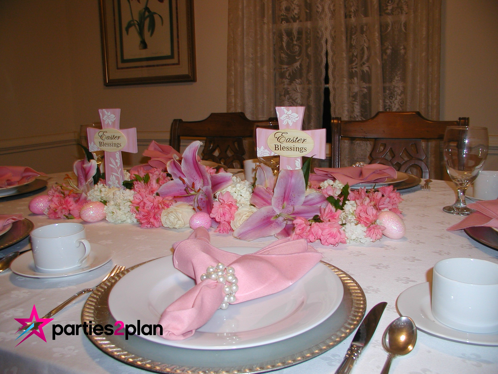 Easter Dinner Table Decorations  Tablescape Easter Dinner Table Decorations
