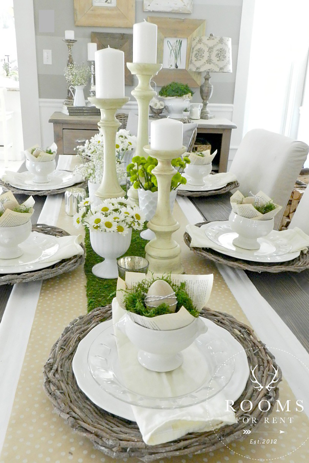 Easter Dinner Table Decorations  25 Easter Table Decorations Centerpieces for Easter