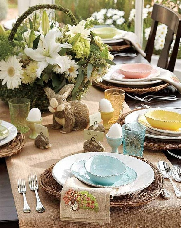Easter Dinner Table Decorations  20 Stylish and unique Easter dinner table decorations