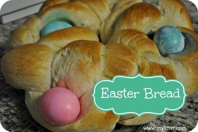 Easter Egg Bread Recipe  Easter Braided Bread with Colored Easter Eggs Recipe