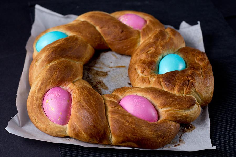 Easter Egg Bread Recipe  Braided Easter Egg Bread