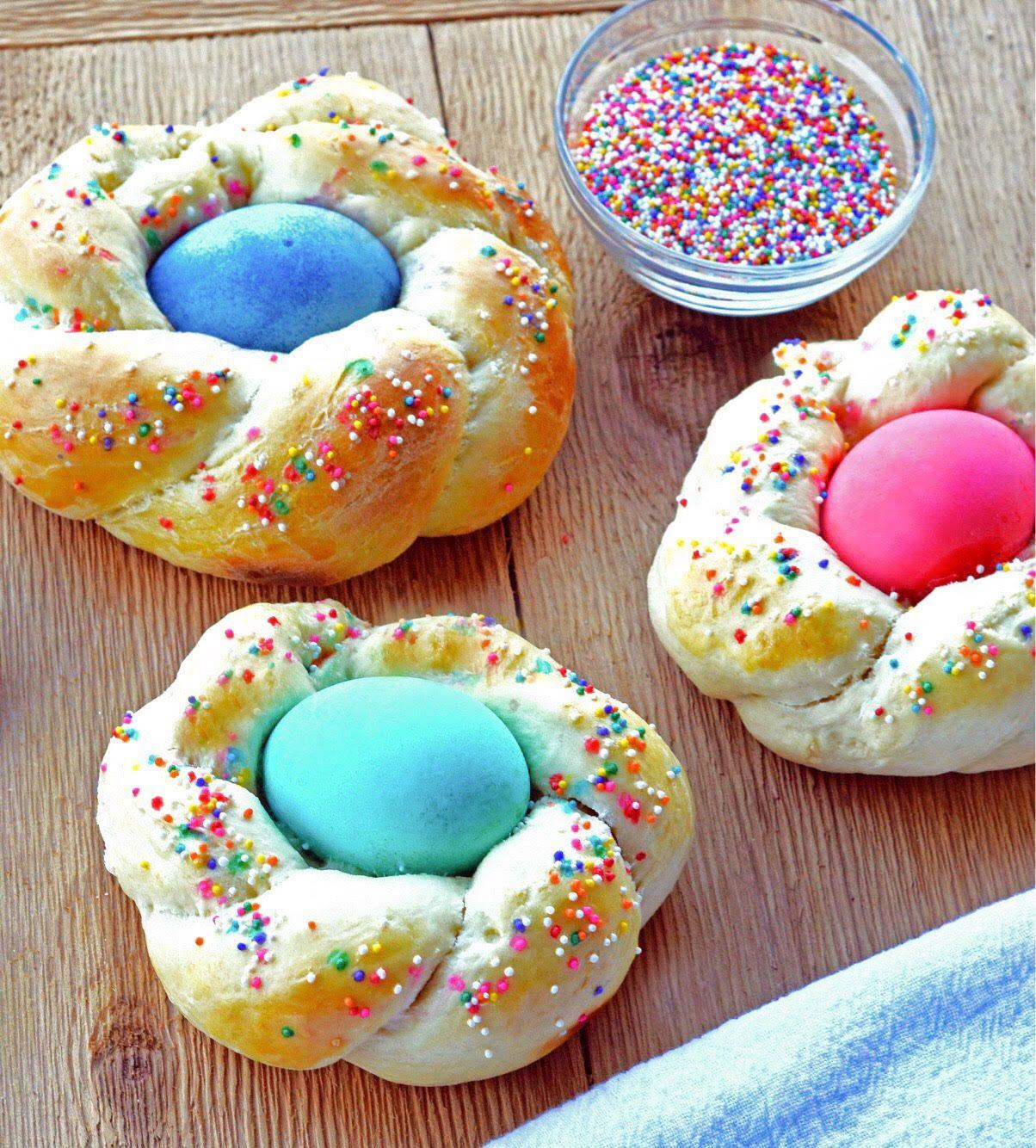 Easter Egg Bread Recipe  Italian Easter Egg Wreath Bread Recipe 4 The Love Family