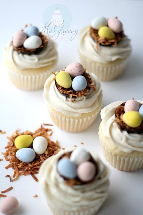Easter Egg Cupcakes  Easter Egg Spring Cupcakes Tutorial Easy Peasy