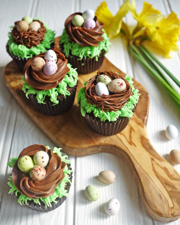 Easter Egg Cupcakes  Easter Chocolate Nest Mini Egg Cupcakes Kids Cooking
