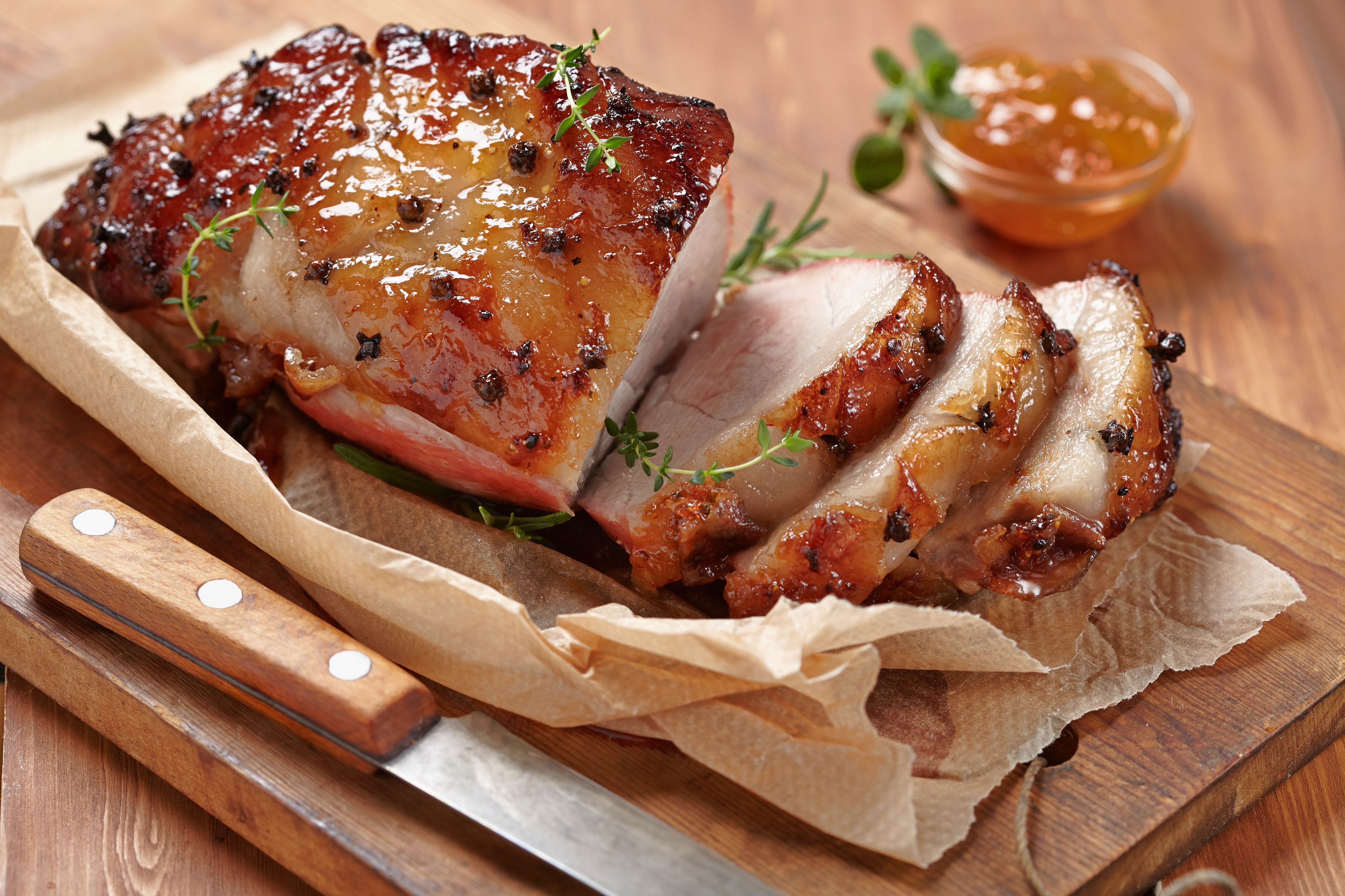 Easter Ham Glaze Recipes  Easter Recipes Sweet Hot Plum Glazed Ham