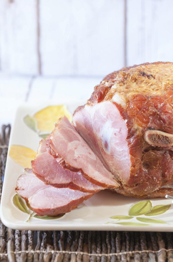 Easter Ham Slow Cooker  Slow Cooker Spiral Ham with Homemade Teriyaki Sauce Food