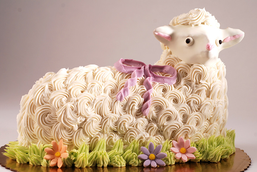 Easter Lamb Decorations  Chicago Bakery Wholesale and Retail Scones Poppies Dough
