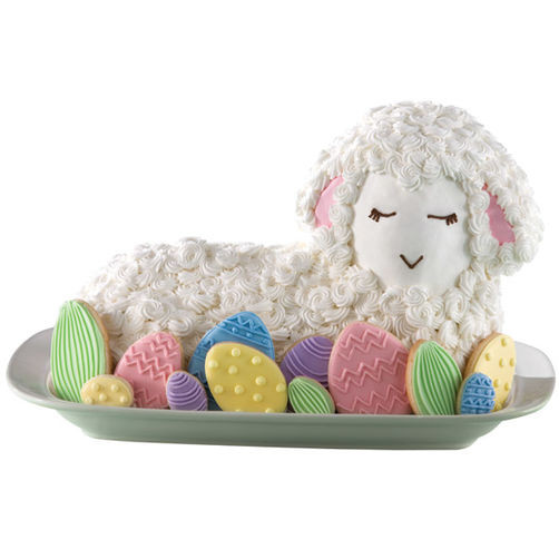 Easter Lamb Decorations  Fanciful Lamb Cake and Easter Egg Cookies