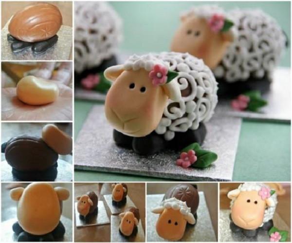 Easter Lamb Decorations  DIY Easter Lambs