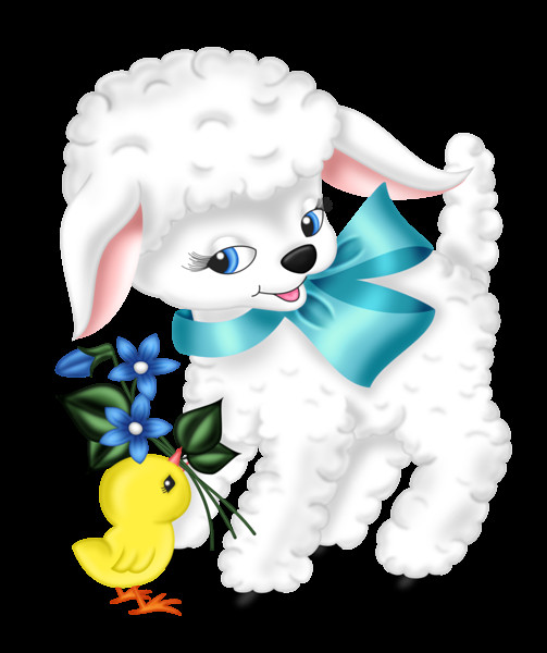 Easter Lamb Pictures  Transparent Easter Lamb and Chicken PNG Clipart Picture