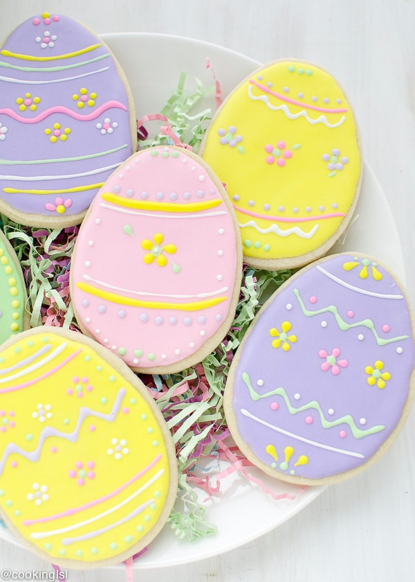 Easter Sugar Cookies  Easter Egg Sugar Cookies With Royal Icing