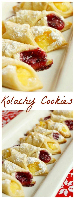 Eastern European Recipes  Traditional Eastern European Kolachy Cookies Easy Ethnic