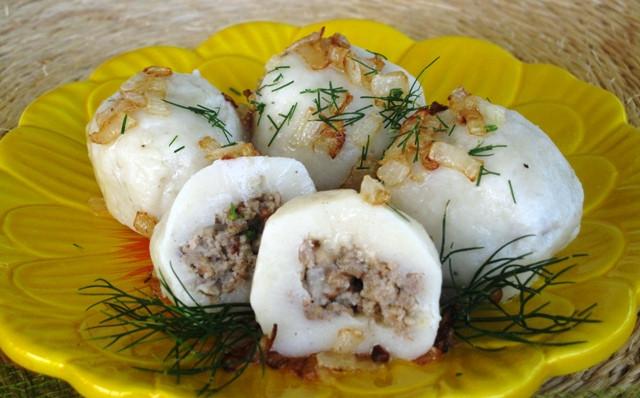 Eastern European Stuffed Dumplings  Meatballs In A Blanket Stuffed Knedle Dumplings