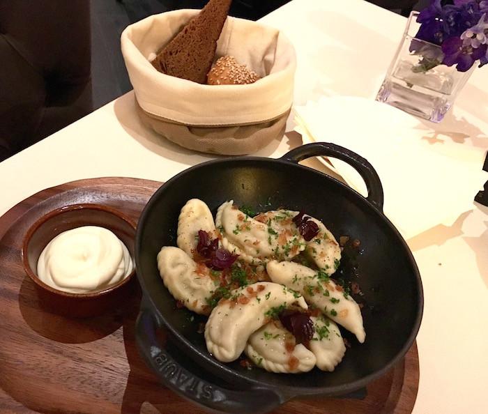 Eastern European Stuffed Dumplings  Vesna chic Eastern European cuisine at Conrad Hotel