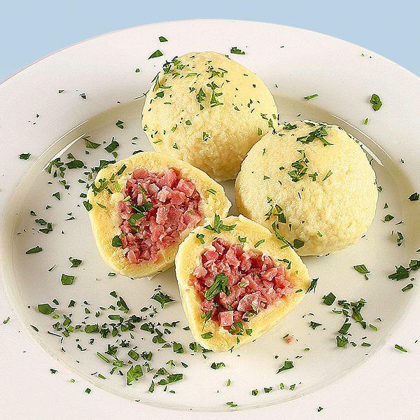 Eastern European Stuffed Dumplings  Wurstknödel bratwurst stuffed dumplings