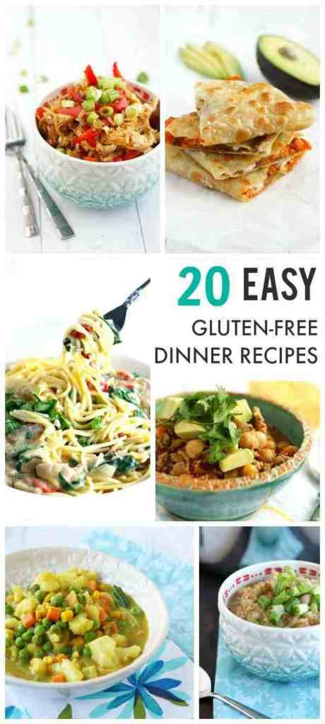 Easy Dairy Free Dinners  20 Easy Gluten Free Dinner Recipes The Pretty Bee