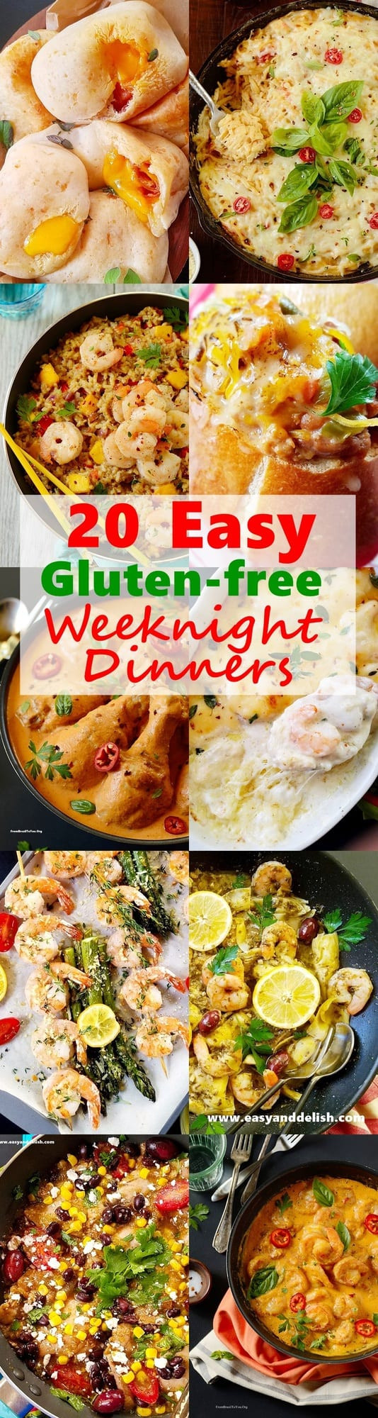 Easy Dairy Free Dinners  20 Easy Gluten Free Weeknight Dinners for the Family