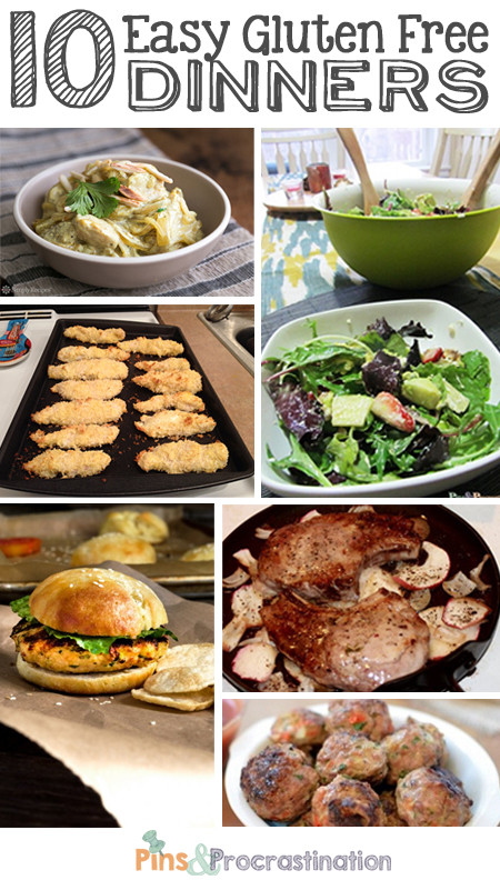 Easy Dairy Free Dinners  10 Quick and Easy Gluten Free Dinners Pins and
