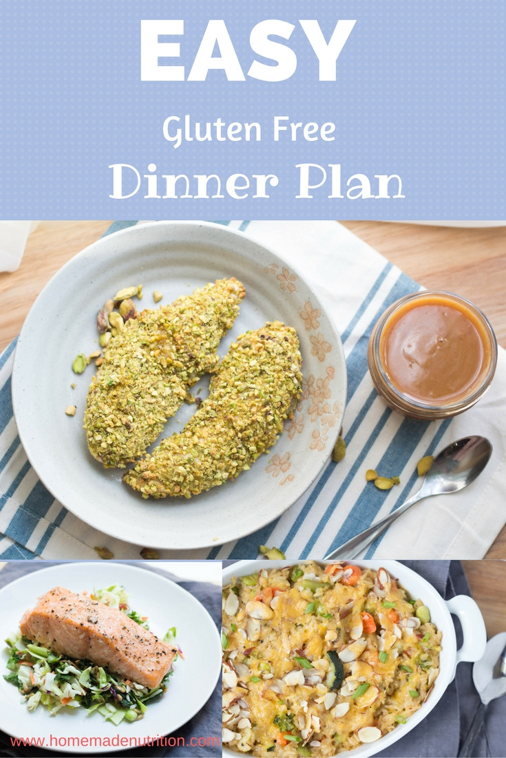 Easy Dairy Free Dinners  Easy Gluten Free Dinner Meal Plan Homemade Nutrition