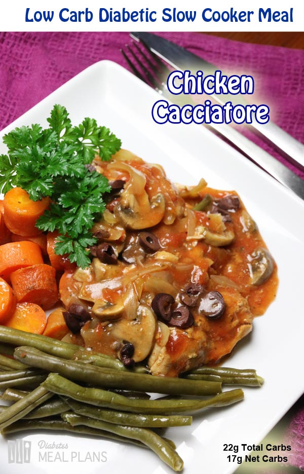 Easy Diabetic Slow Cooker Recipes  Easy Slow Cooker Chicken Cacciatore