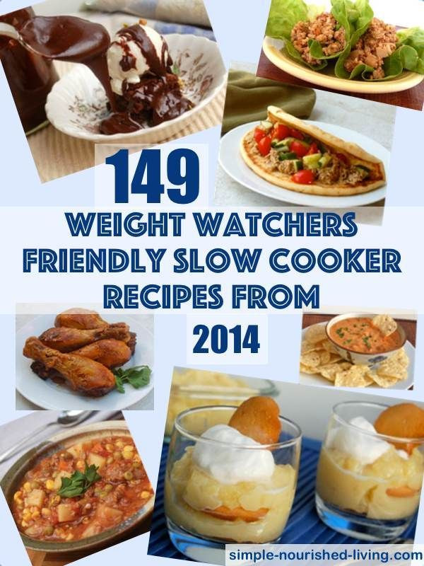 Easy Diabetic Slow Cooker Recipes  Weight Watchers Crock Pot Recipes with Points Plus Values