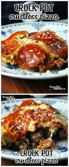 Easy Diabetic Slow Cooker Recipes  Low Carb Crock Pot Crustless Pizza from Recipes that Crock