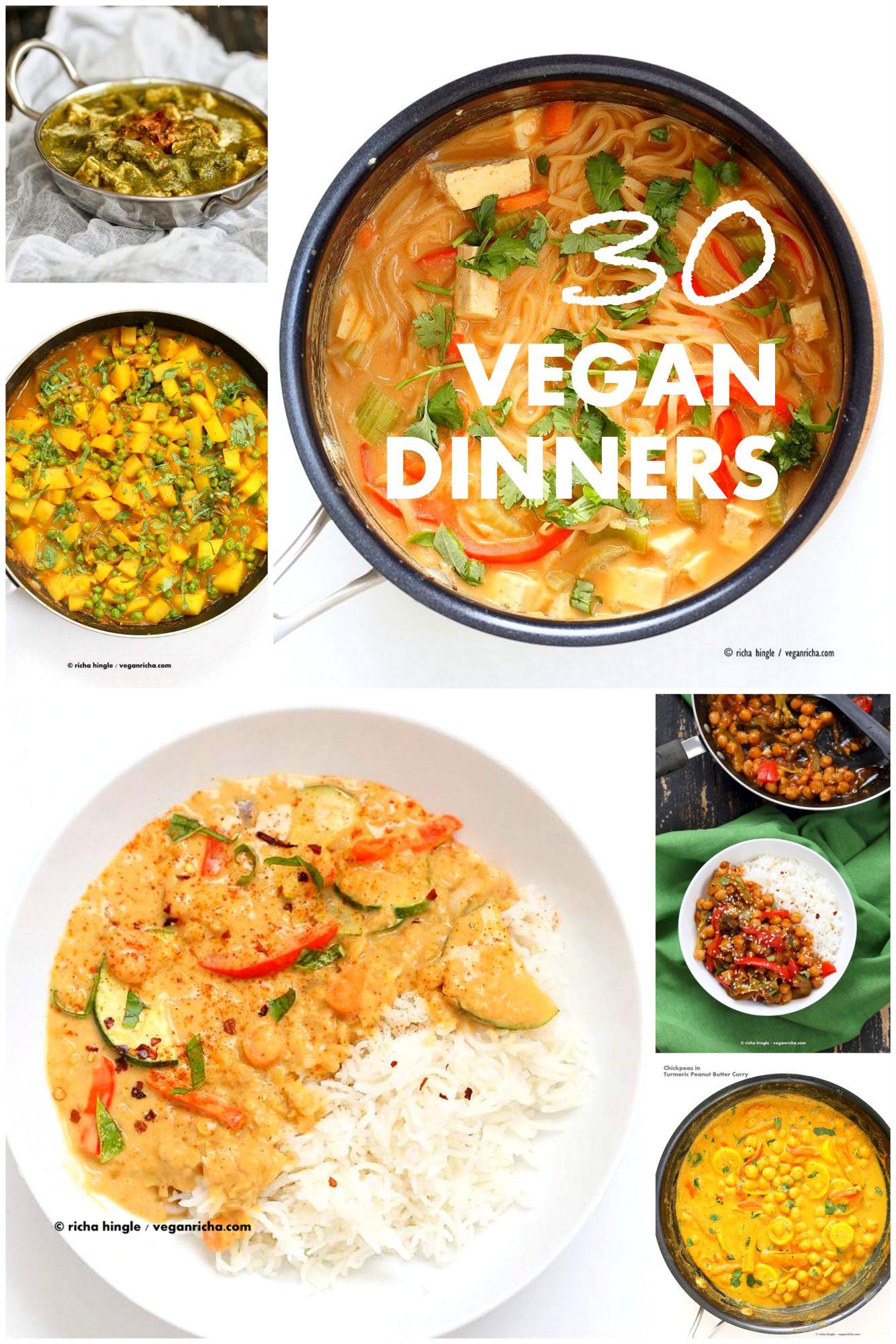 Easy Dinner Recipes Vegetarian  30 Easy Vegan Dinner Recipes Vegan Richa