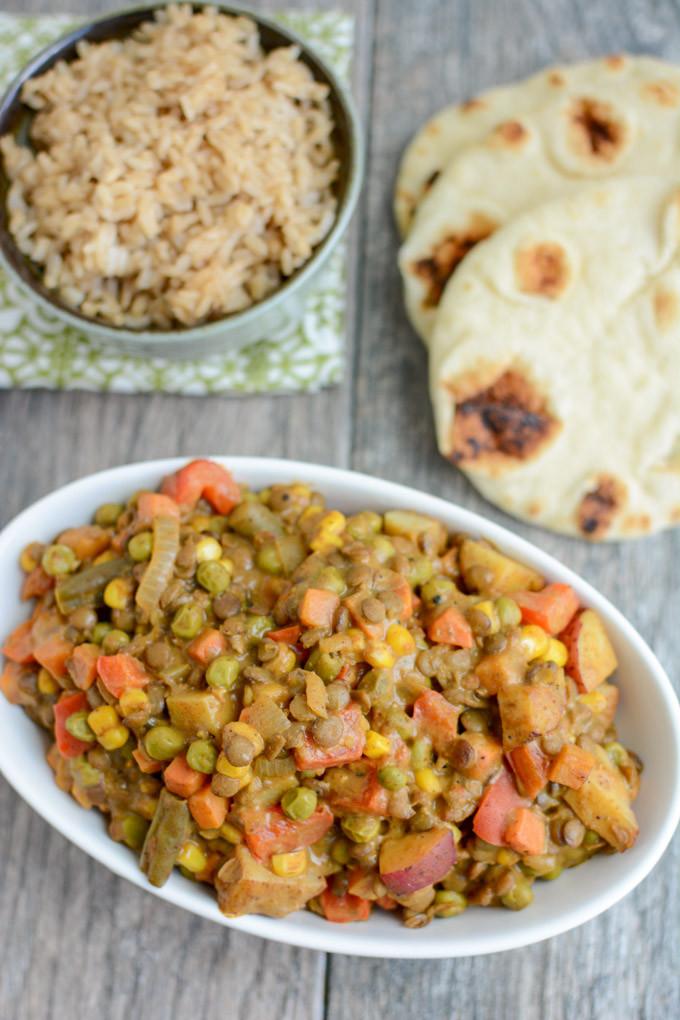 Easy Dinner Recipes Vegetarian  Lentil Ve able Curry Hummusapien