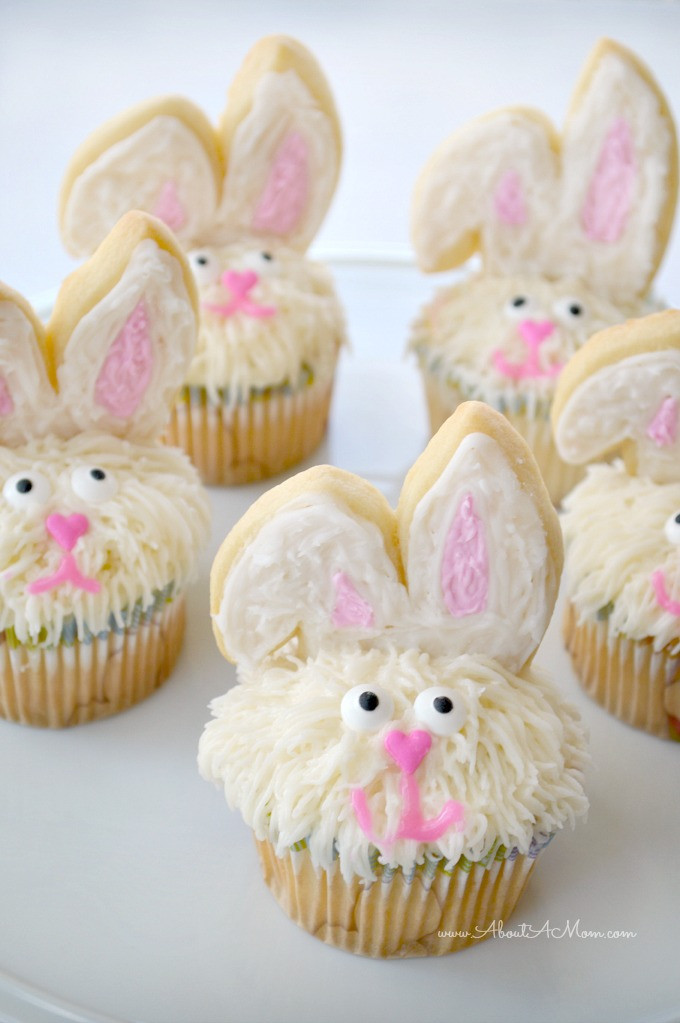 Easy Easter Cupcakes  Easter Bunny Cupcakes Made Easy About A Mom