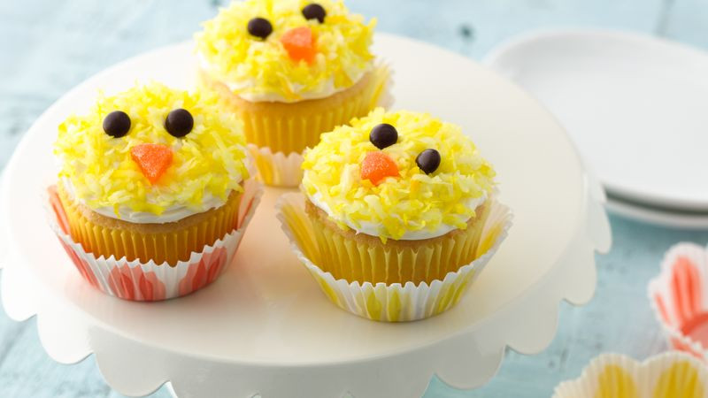 Easy Easter Cupcakes  Easter Chicks Cupcakes recipe from Betty Crocker