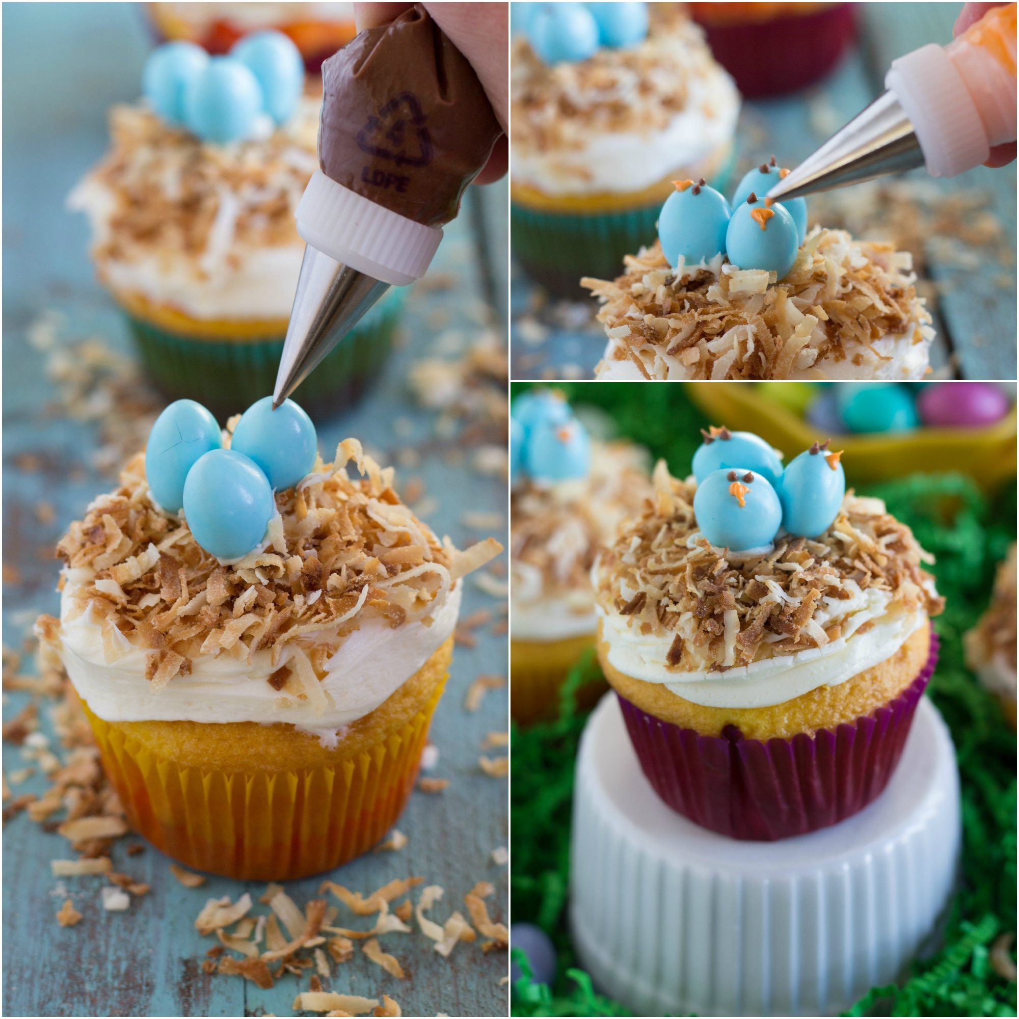 Easy Easter Cupcakes  Easy Bird s Nest Cupcakes Chelsea s Messy Apron