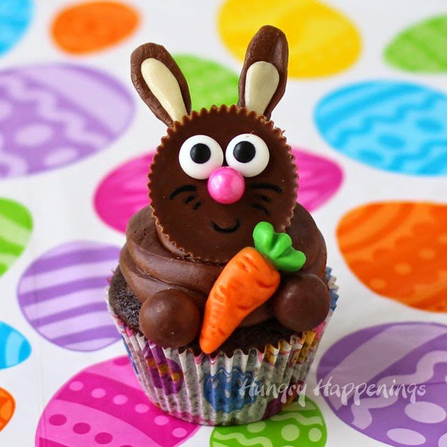Easy Easter Cupcakes  Reese s Cup Easter Bunny Cupcakes