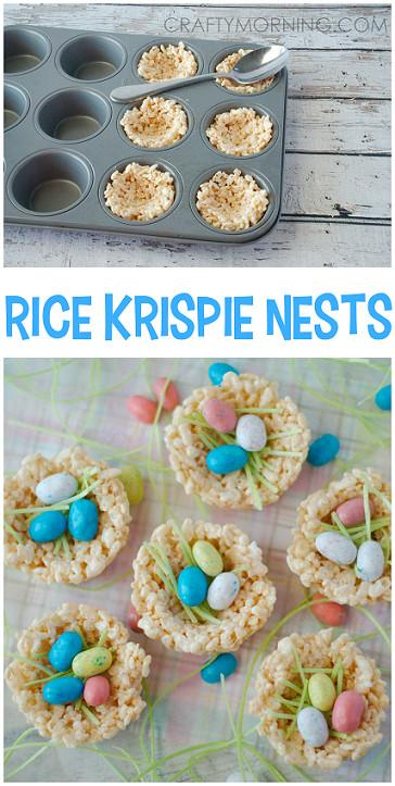 Easy Easter Desserts For Kids  Rice Krispie Nests Easter Treats Crafty Morning
