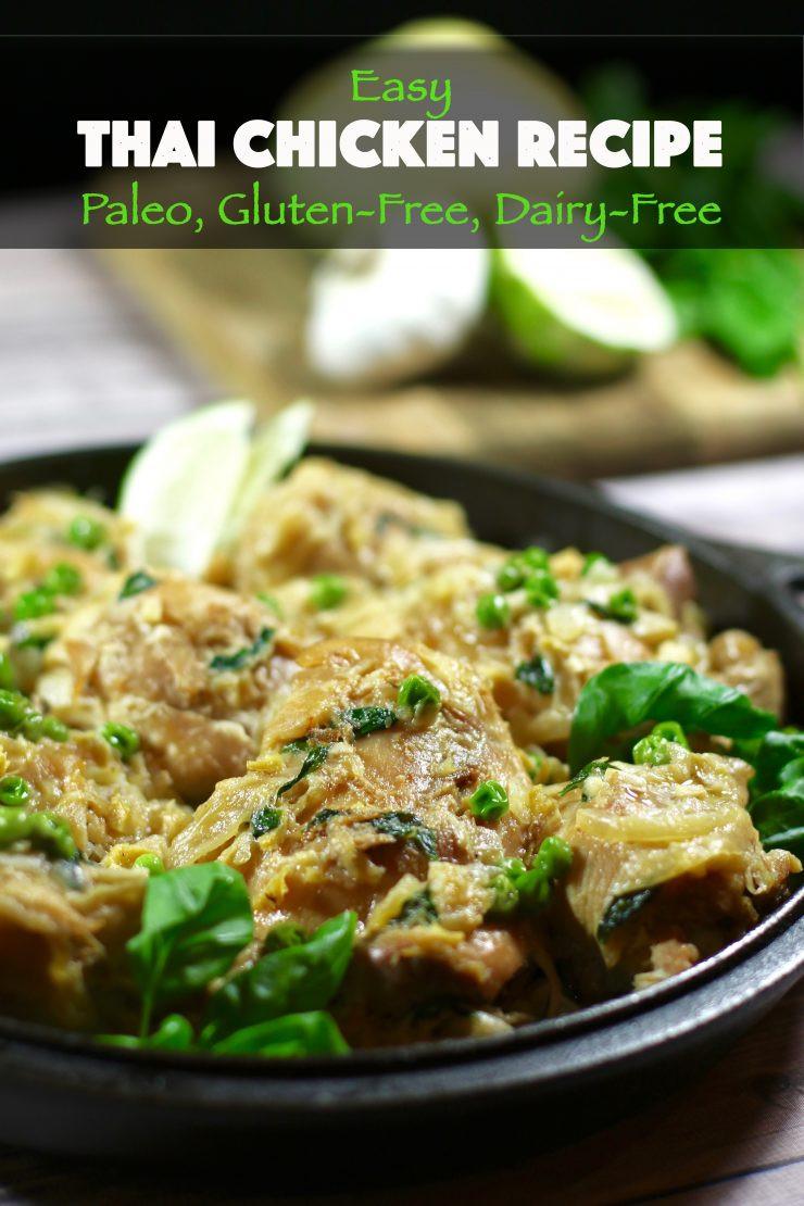 Easy Gluten Free Chicken Recipes  Easy Thai Chicken Recipe Paleo Gluten Free Dairy Free