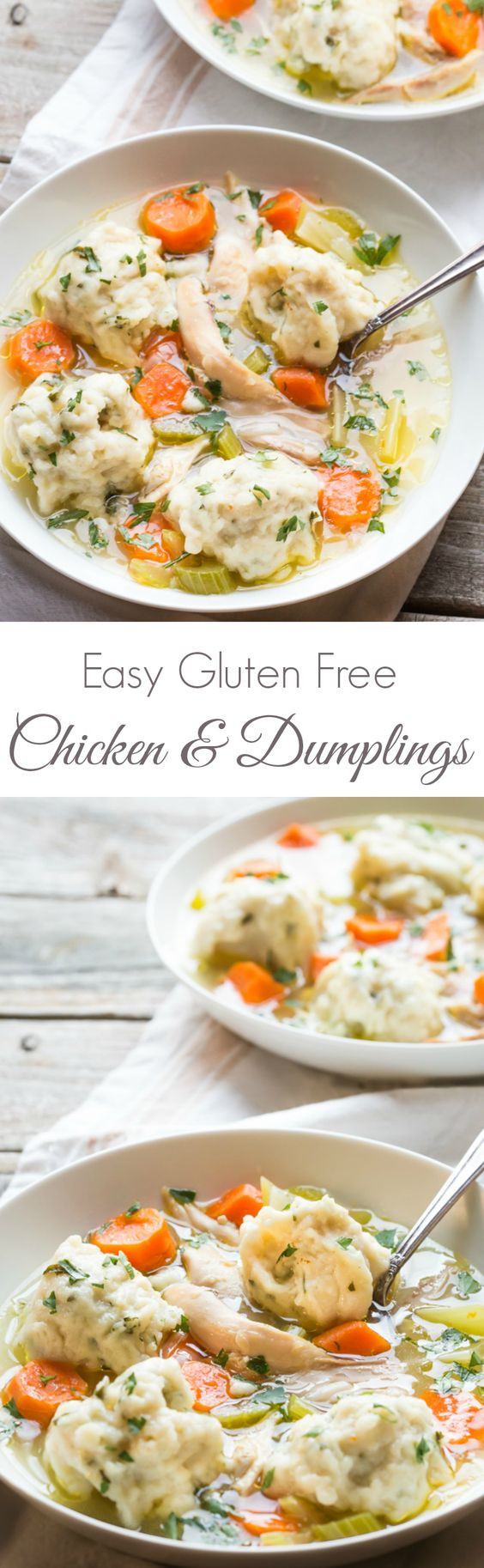 Easy Gluten Free Chicken Recipes  Chicken and dumplings Powder and Gluten free on Pinterest