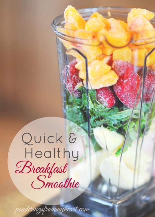 Easy Healthy Breakfast Smoothies  Quick & Healthy Breakfast Smoothie