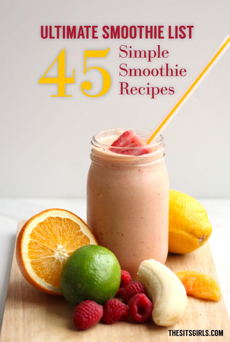 Easy Healthy Breakfast Smoothies  Healthy easy breakfast smoothie recipes Food easy recipes