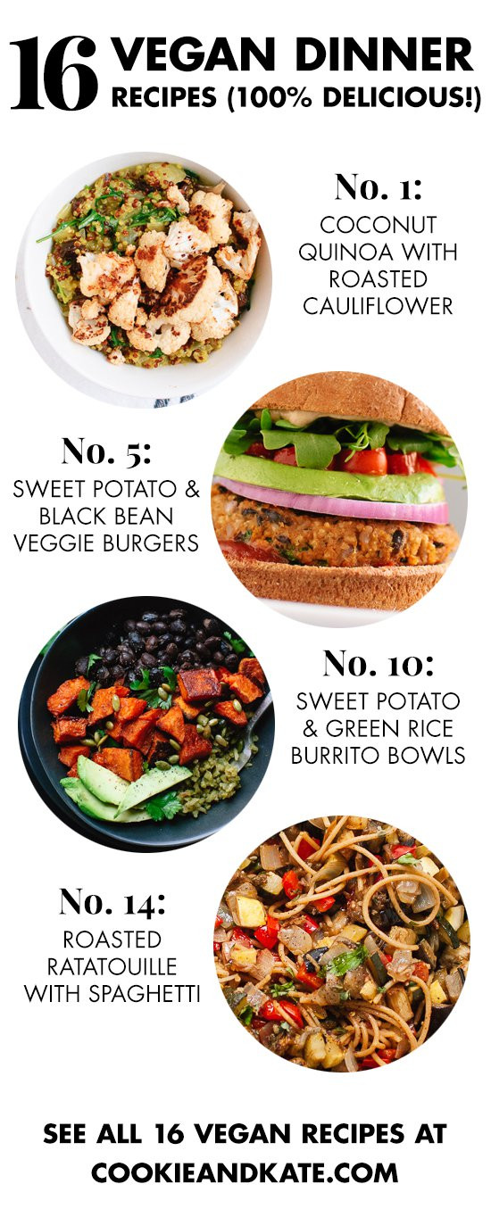 Easy Healthy Vegetarian Dinner Recipes  16 Delicious Vegan Dinner Recipes Cookie and Kate
