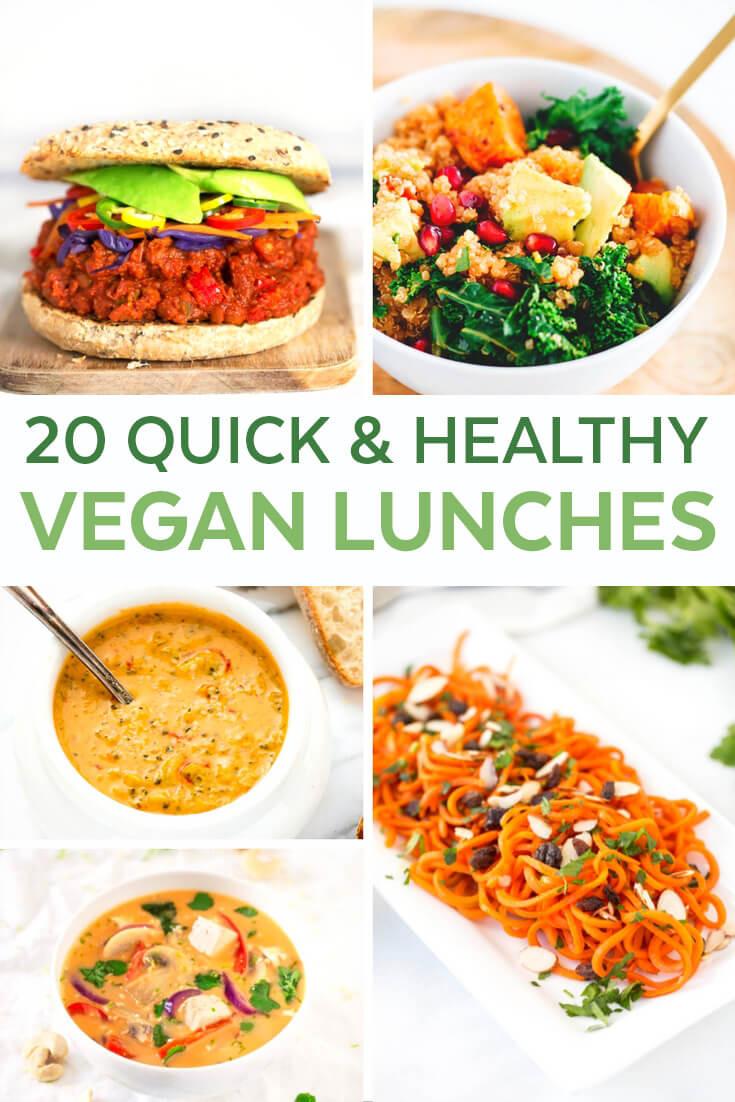 Easy Healthy Vegetarian Dinner Recipes  20 Easy Vegan Lunch Ideas