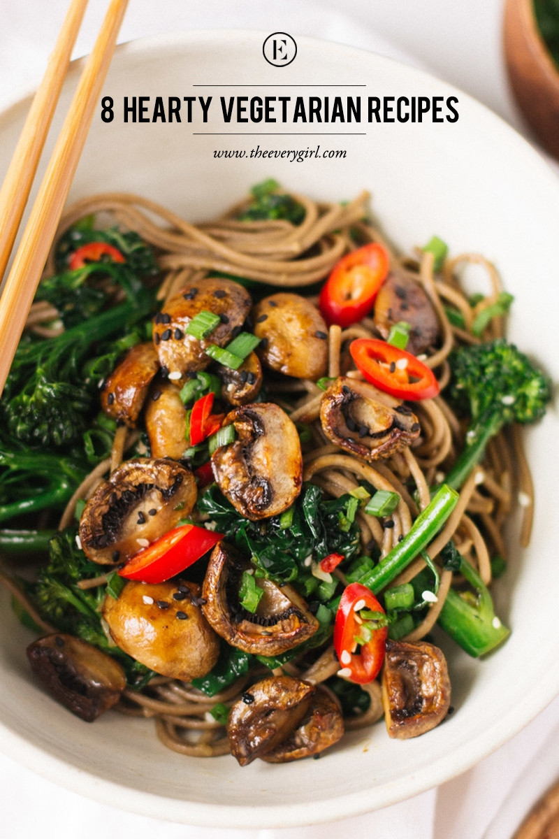 Easy Healthy Vegetarian Dinner Recipes  8 Hearty Ve arian Recipes for Meatless Monday The