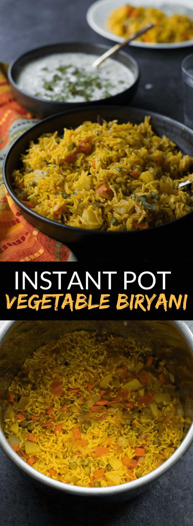 Easy Instant Pot Recipes Vegetarian  Instant Pot Ve able biryani recipe How to make veg
