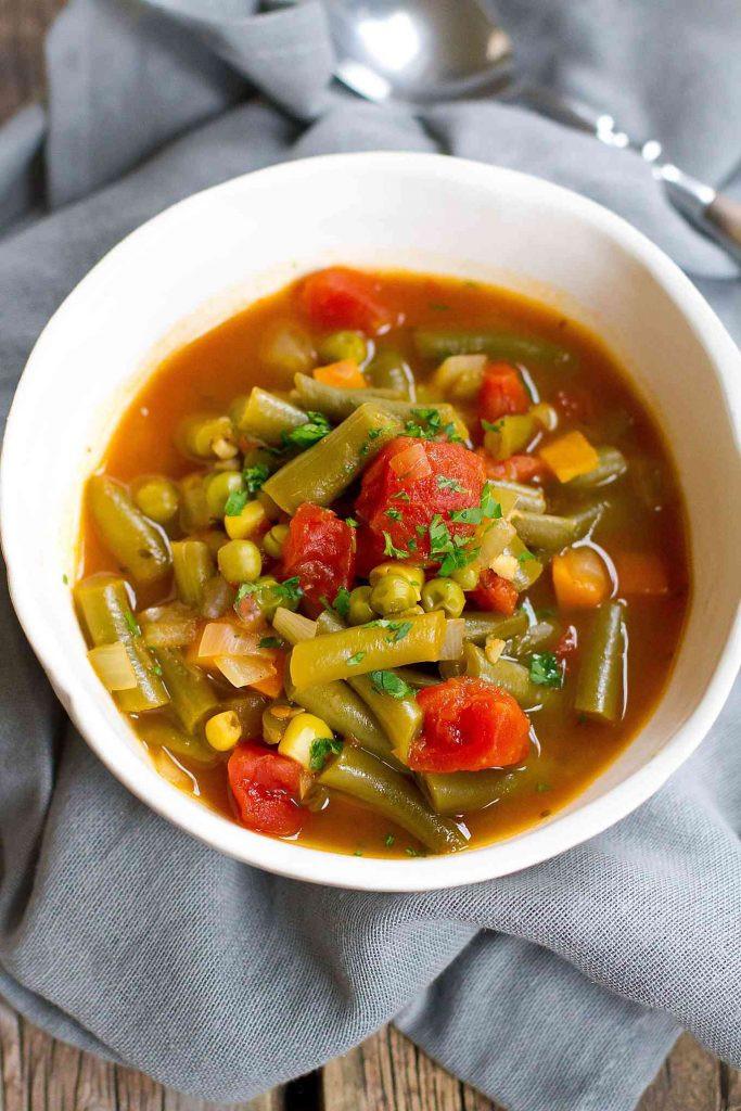 Easy Instant Pot Recipes Vegetarian  Instant Pot Ve able Soup Pressure Cooker or Stovetop