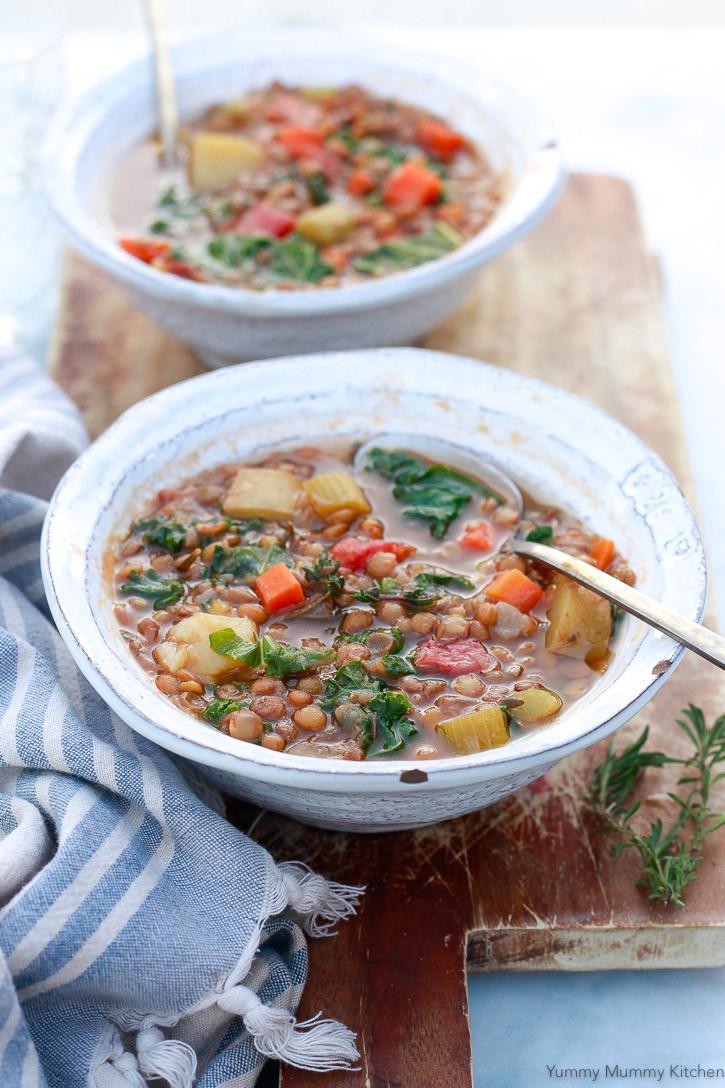 Easy Instant Pot Recipes Vegetarian  Instant Pot Lentil Soup Yummy Mummy Kitchen