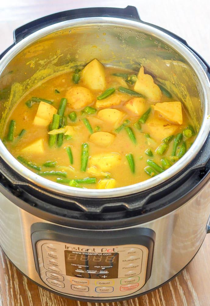 Easy Instant Pot Recipes Vegetarian  Vegan Instant Pot Potato Curry Recipe A Virtual Vegan