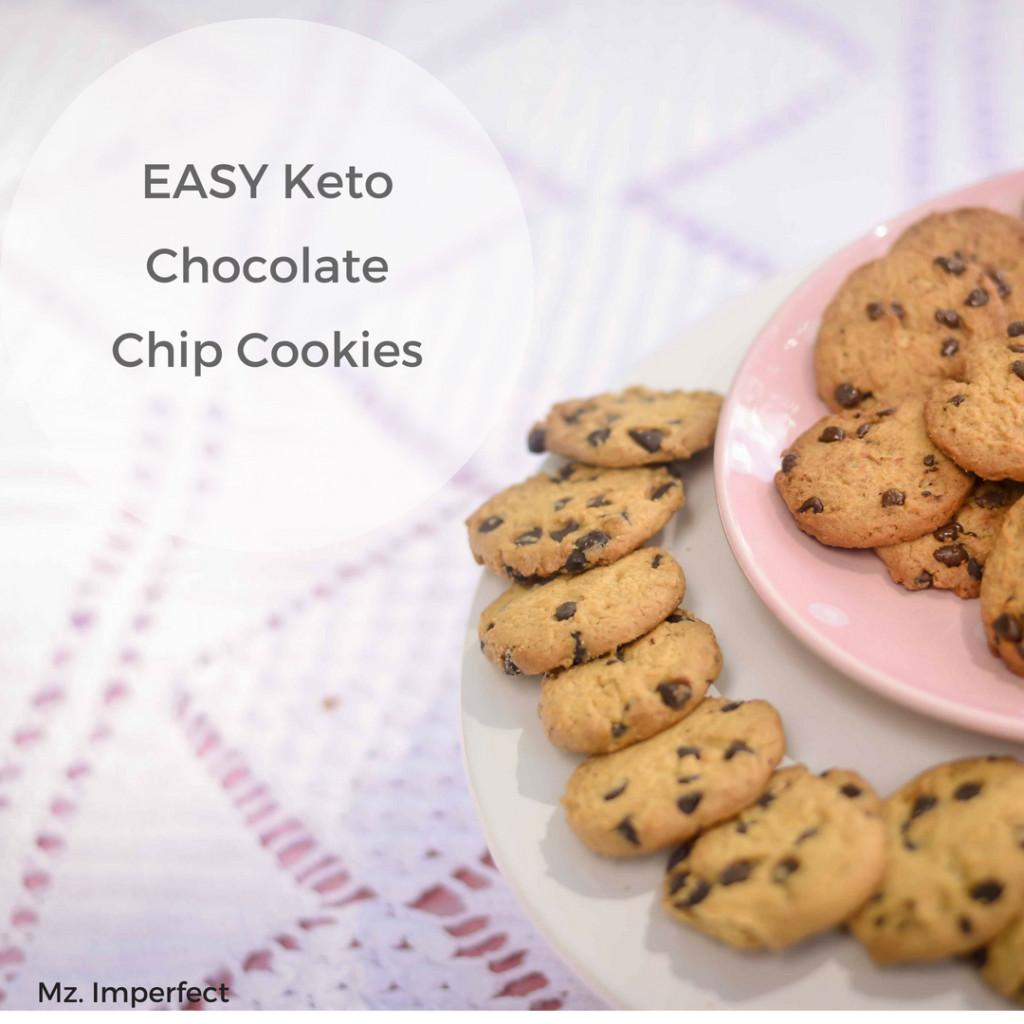 Easy Keto Chocolate Chip Cookies  EASY Keto Chocolate Chip Cookies