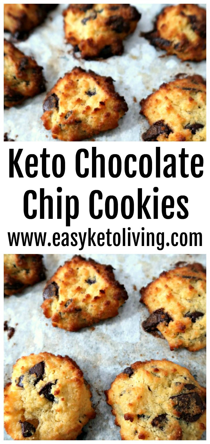 Easy Keto Chocolate Chip Cookies  Easy Low Carb Keto Chocolate Chip Cookies Recipe