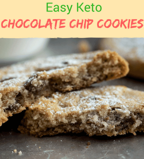 Easy Keto Chocolate Chip Cookies  Easy Keto Cookies for the Holidays