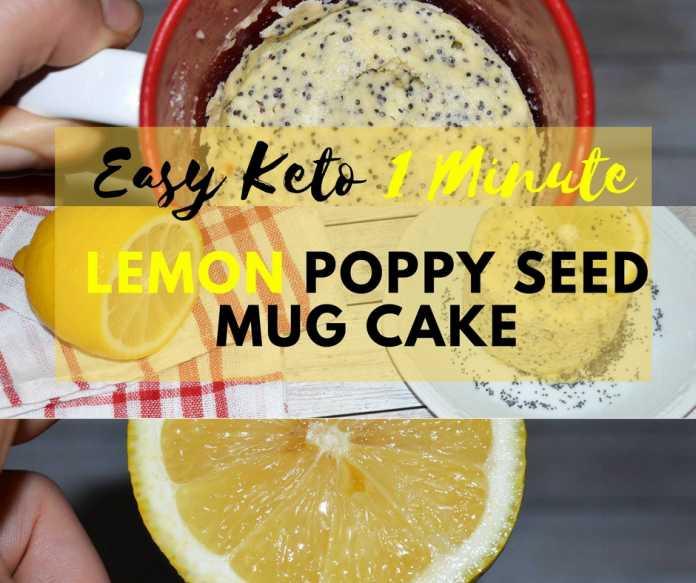 Easy Keto Mug Cake  Easy Keto 1 Minute Lemon Poppy Seed Mug Cake Dairy Free