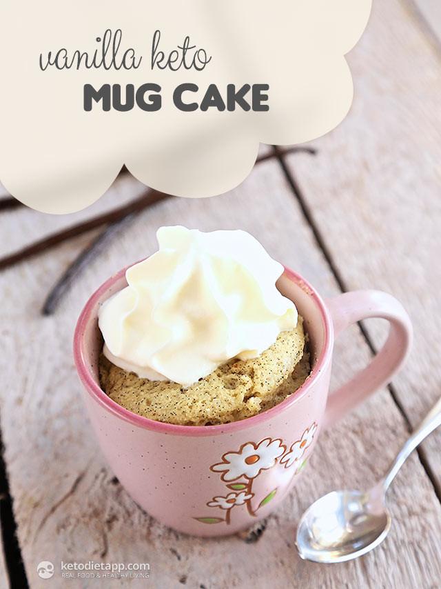 Easy Keto Mug Cake  Vanilla Keto Mug Cake